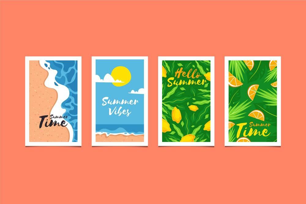 平面设计夏日卡片收藏_7962557