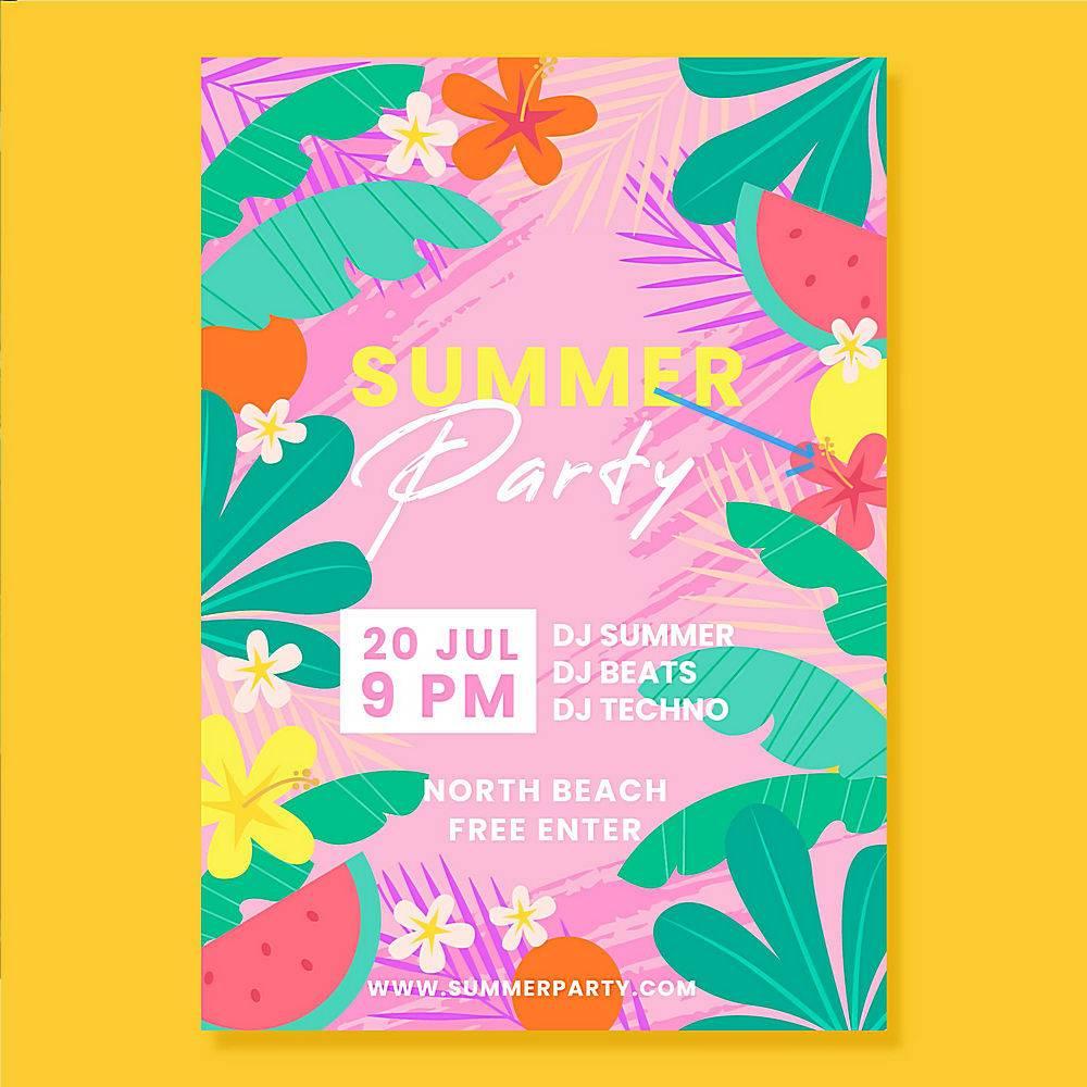 平面设计夏日派对海报_8270844