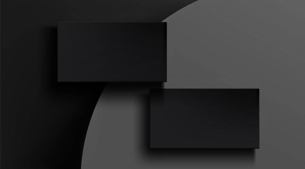 灰色摘要上的黑色名片模板_13149330