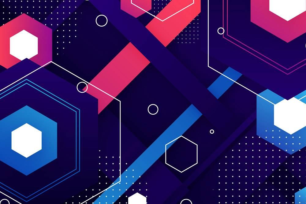 几何形状的抽象渐变墙纸_11740719
