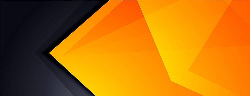 黑黄色抽象现代横幅设计_13514654
