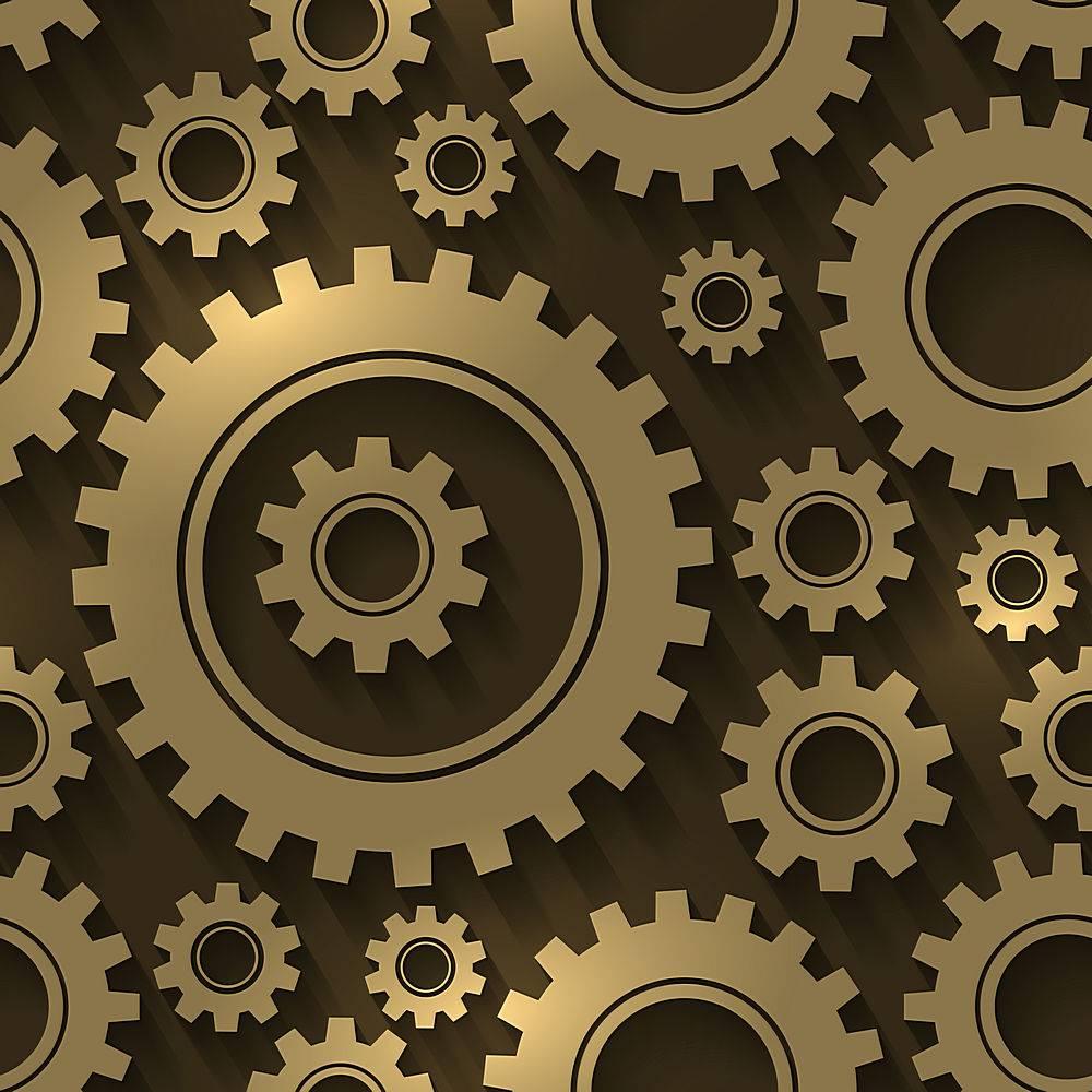 齿轮设计抽象背景齿轮和齿轮的无缝图案_13422941