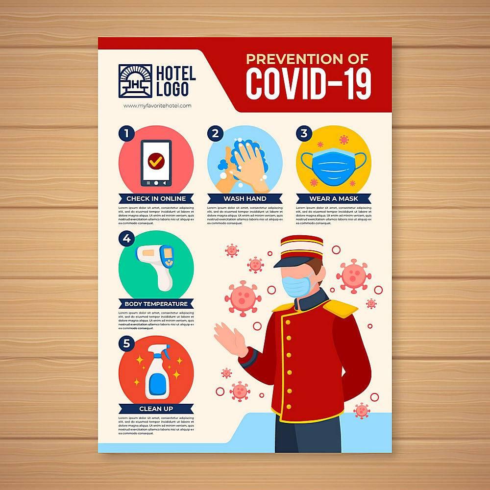 在酒店海报中预防冠状病毒_13608582
