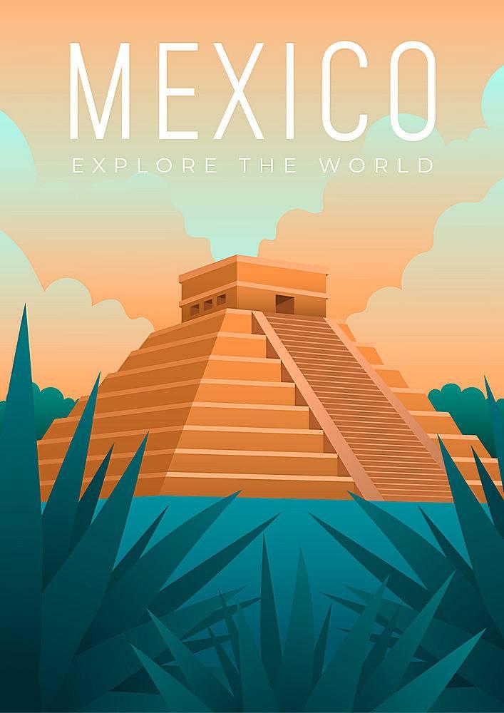 墨西哥旅行海报设计说明_7354094