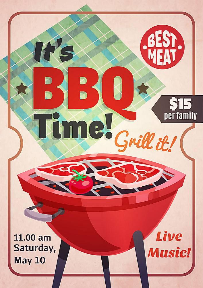 烧烤时间餐厅海报_4027240