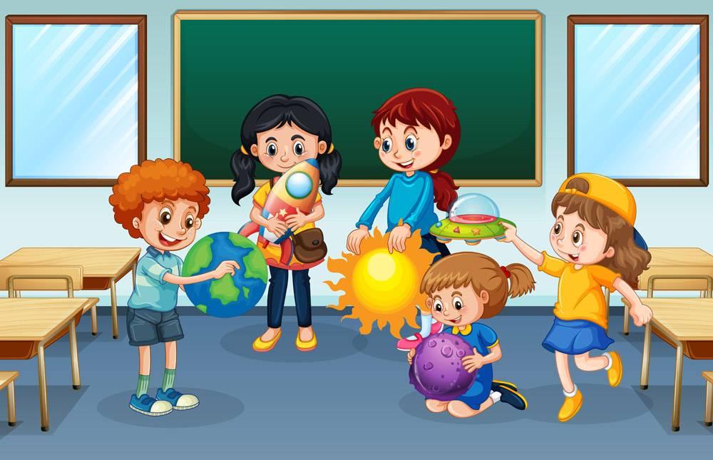 学生在教室背景_12364928