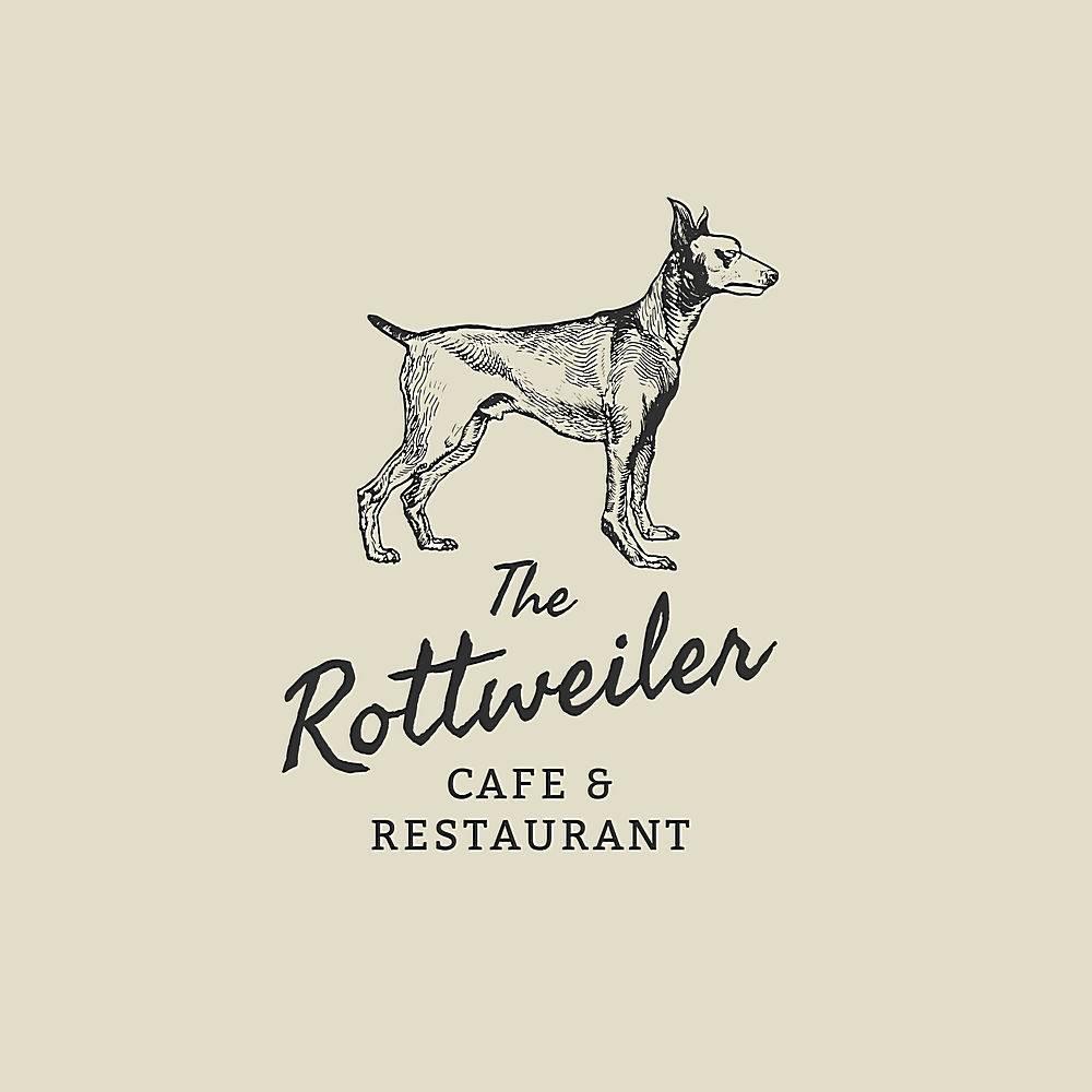 餐馆企业商标模板在葡萄酒rottweiler题材_16406074