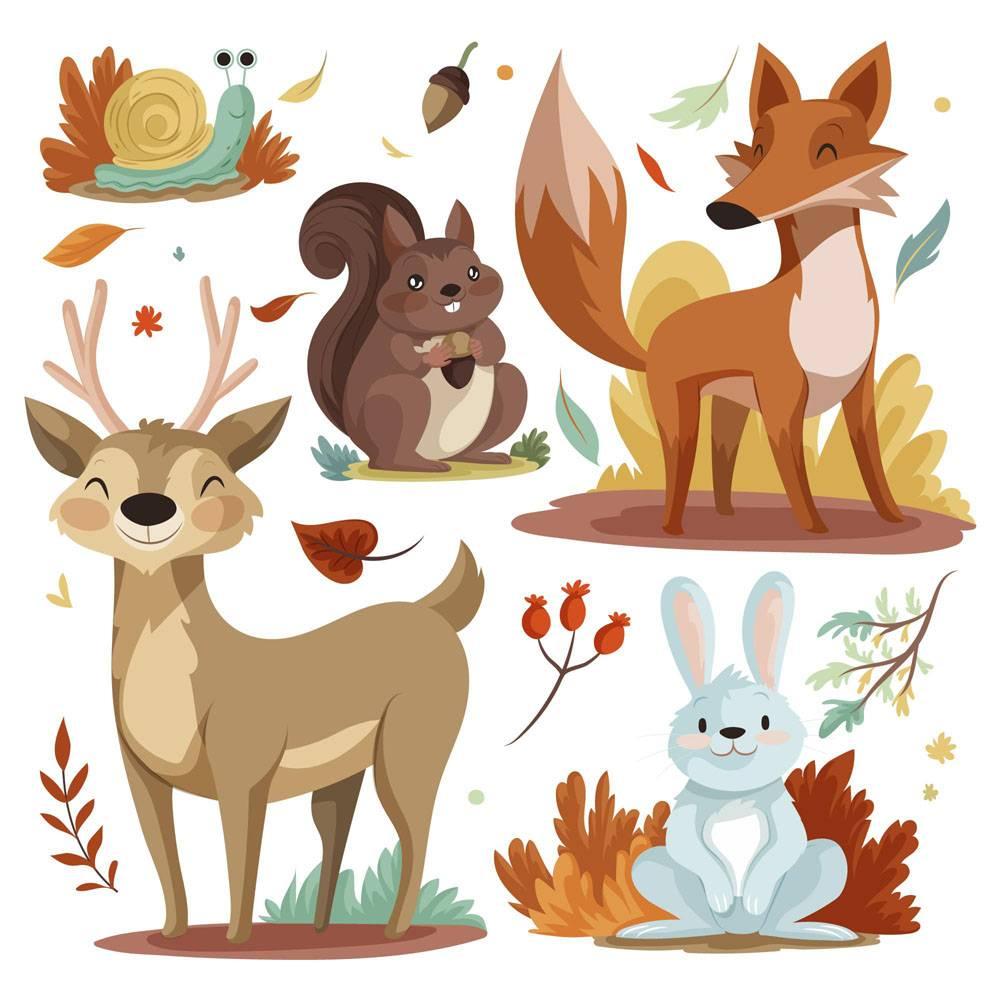 详细的秋天动物收藏_16395796