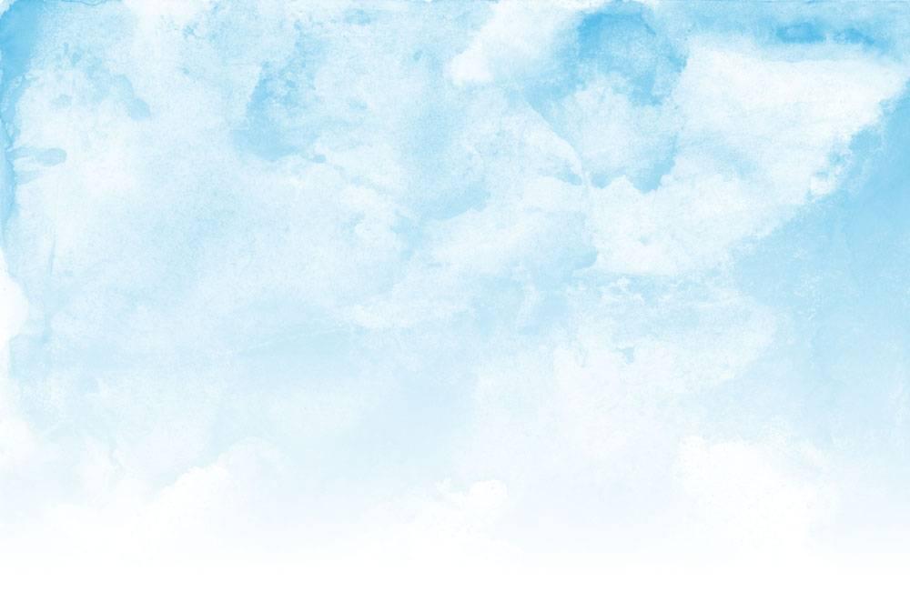 蓝天和云彩水彩纹理背景_13543615