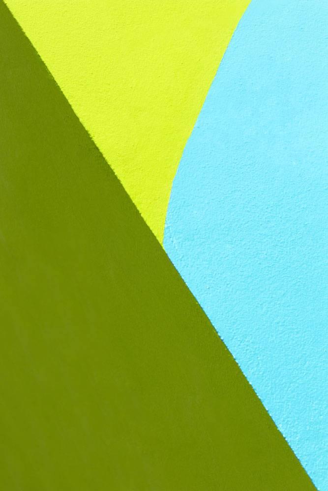 蓝色和绿色墙壁背景_15073894