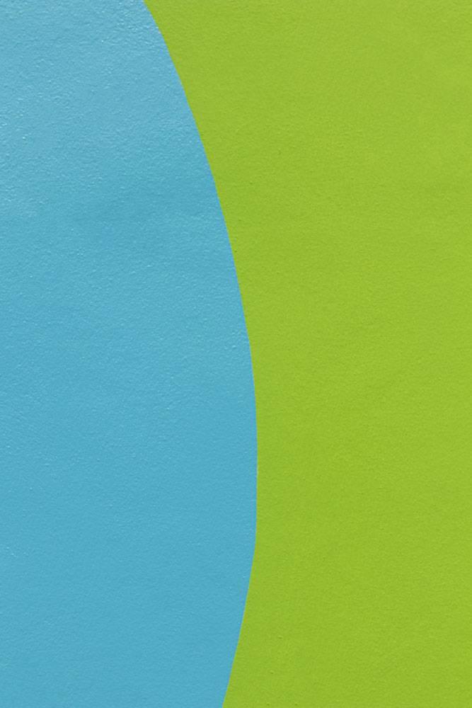 蓝色和绿色墙壁设计_15073900