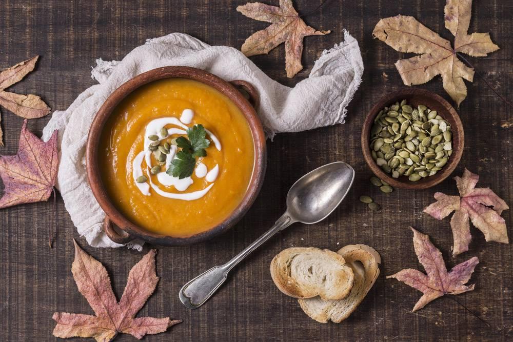 鲜美秋天食物安排顶视图_10067899