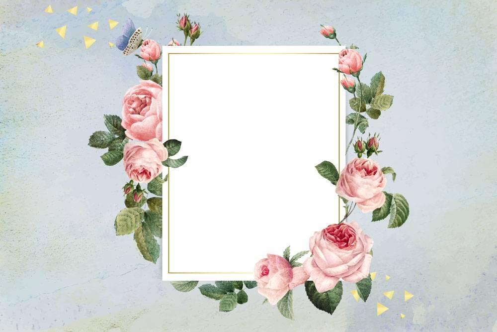 花卉框架徽章