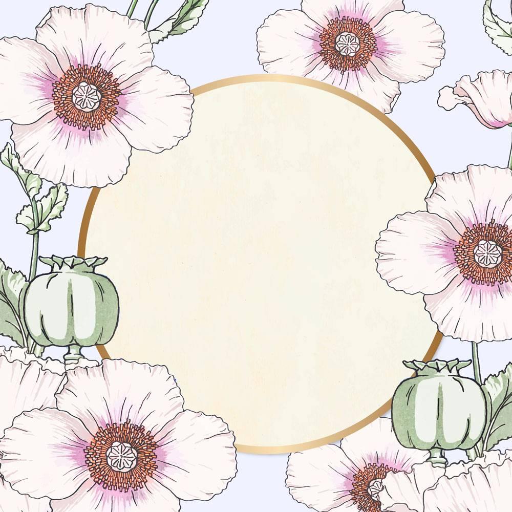 花卉框架传染媒介葡萄酒手拉_17432637